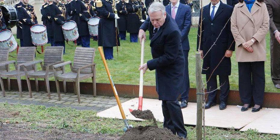 etats unis plantation d un arbre offert par le m morial du 11 septembre de consulat. Black Bedroom Furniture Sets. Home Design Ideas